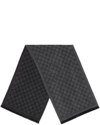 Bufanda de punto en gris oscuro de Gucci