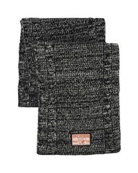 Bufanda de punto en gris oscuro de True Religion Brand Jeans