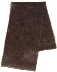 Bufanda de punto en marrón oscuro de Lardini