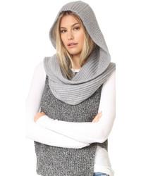 Bufanda de punto gris de Kate Spade