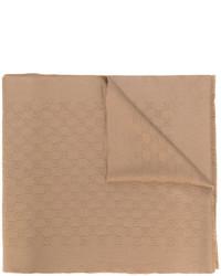 Bufanda de punto marrón claro de Gucci