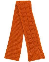 Bufanda de punto naranja de Barena