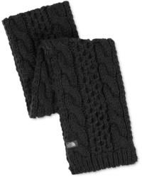 Bufanda de punto negra