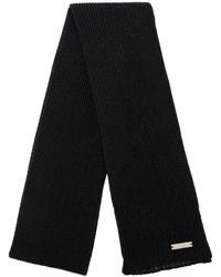 Bufanda de punto negra de DSQUARED2