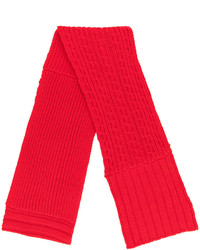 Bufanda de punto roja de MCQ