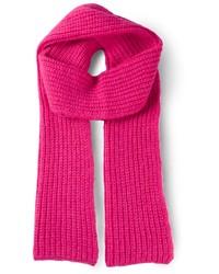 Bufanda de punto rosa de Cédric Charlier