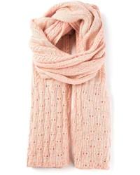 Bufanda de punto rosada