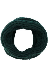 Bufanda de punto verde oscuro de Balmain