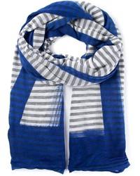 Bufanda de rayas horizontales azul de Faliero Sarti