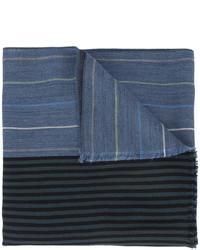 Bufanda de rayas horizontales azul de Paul Smith
