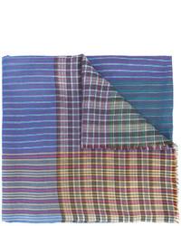 Bufanda de rayas horizontales celeste de Etro