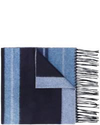 Bufanda de rayas horizontales celeste de Salvatore Ferragamo