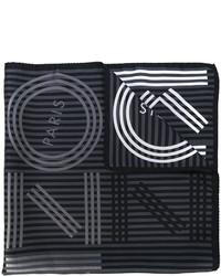 Bufanda de rayas horizontales en gris oscuro de Kenzo