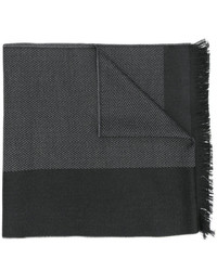 Bufanda de rayas horizontales en gris oscuro de Versace