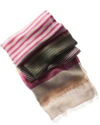 Bufanda de rayas horizontales en multicolor