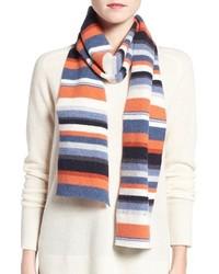 Bufanda de rayas horizontales en multicolor de Barbour