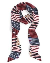 Bufanda de rayas horizontales en multicolor de Sole Society