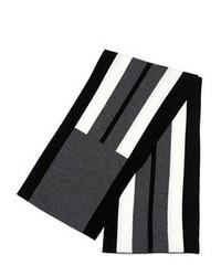 Bufanda de rayas horizontales en negro y blanco de Neil Barrett