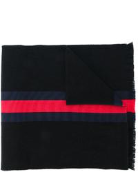 Bufanda de rayas horizontales negra