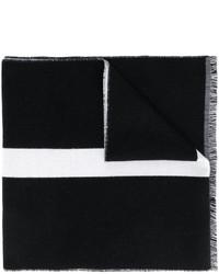 Bufanda de rayas horizontales negra de Givenchy