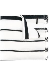 Bufanda de rayas verticales en blanco y negro de Diesel