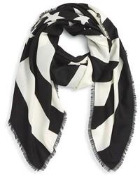 Bufanda de rayas verticales en blanco y negro de Givenchy