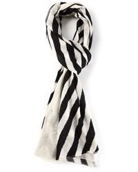 Bufanda de rayas verticales en blanco y negro de Joseph