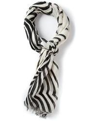 Bufanda de rayas verticales en blanco y negro de Marc by Marc Jacobs