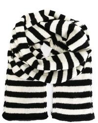 Bufanda de rayas verticales en blanco y negro de Saint Laurent
