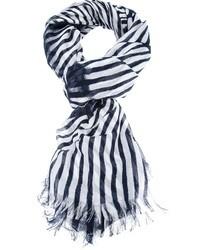 Bufanda de rayas verticales en blanco y negro de Stella McCartney
