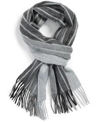 Bufanda de rayas verticales gris