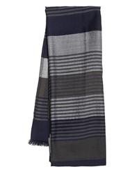 Bufanda de rayas verticales gris de Salvatore Ferragamo