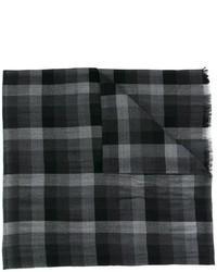 Bufanda de seda a cuadros negra de Ermenegildo Zegna