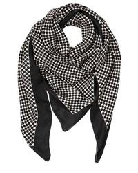 Bufanda de seda a lunares en negro y blanco de Contileoni