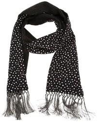 Bufanda de Seda a Lunares Negra y Blanca de Dolce & Gabbana