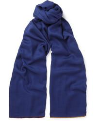 Bufanda de seda azul marino de Loro Piana