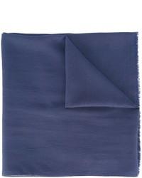Bufanda de seda azul marino de Maison Margiela