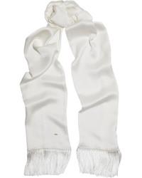 Bufanda de seda blanca de Saint Laurent