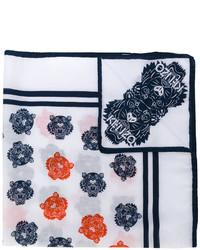 Bufanda de seda con estampado geométrico blanca de Kenzo