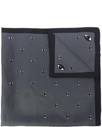 Bufanda de seda con estampado geométrico en gris oscuro de Kenzo