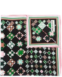 Bufanda de seda con estampado geométrico negra de Emilio Pucci