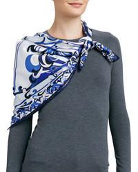 Bufanda de seda de estrellas blanca de Emilio Pucci
