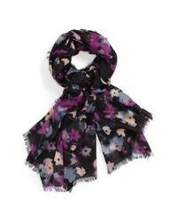 Bufanda de Seda de Flores Negra de Nordstrom