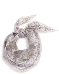 Bufanda de seda de paisley blanca de Echo