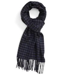 Bufanda de seda de pata de gallo azul marino de Canali