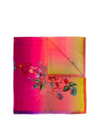 Bufanda de seda efecto teñido anudado rosa de Etro