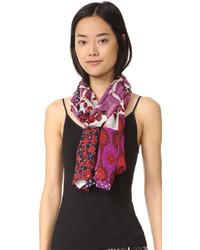 Bufanda de seda en violeta de Diane von Furstenberg