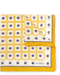 Bufanda de seda estampada amarilla de Boglioli