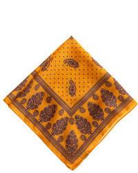 Bufanda de seda estampada amarilla de Drakes