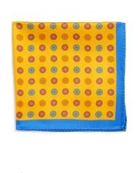 Bufanda de seda estampada amarilla de Ted Baker